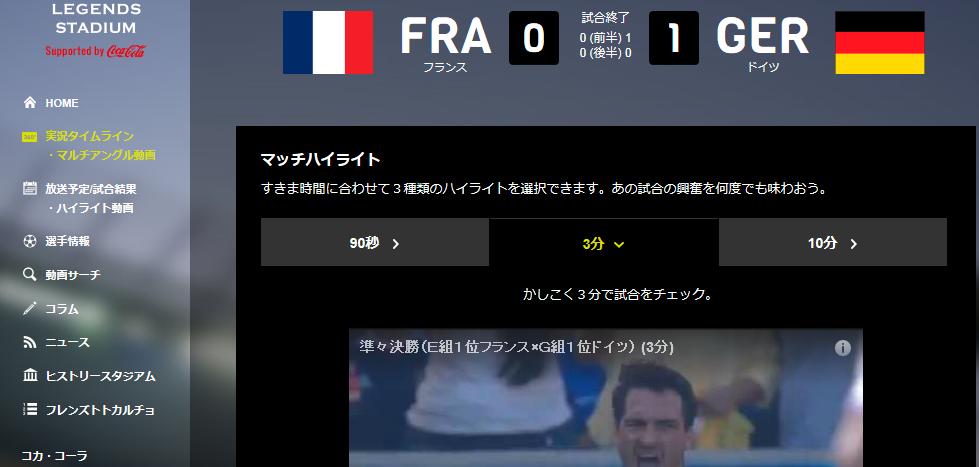 サッカー フランス対ドイツ